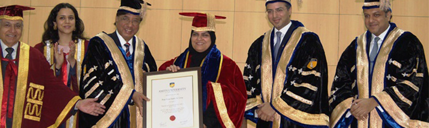 Dr Raja Al Gurg conferred Doctorate by Amity University